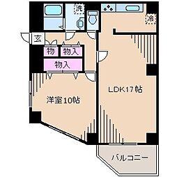神奈川県横浜市港北区日吉本町5丁目の賃貸マンションの間取り