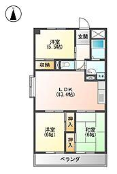 5清邦ビル[2階]の間取り