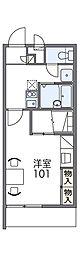 泉北高速鉄道 深井駅 徒歩19分の賃貸マンション 2階1Kの間取り