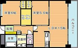 ラフィーネ20[5階]の間取り