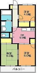 長島 ビル[407号室]の間取り