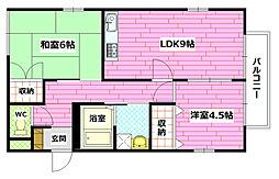 プロムナードB棟[1階]の間取り