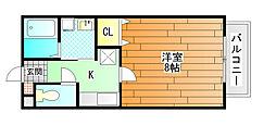 エスペランス[2階]の間取り