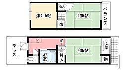 [テラスハウス] 兵庫県西宮市甲子園口6丁目 の賃貸【/】の間取り