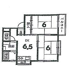 野々村ハイツ[2階]の間取り