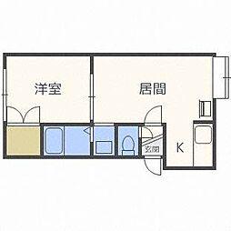 フローラル46[2階]の間取り