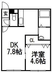 PLAZA M−7[301号室]の間取り