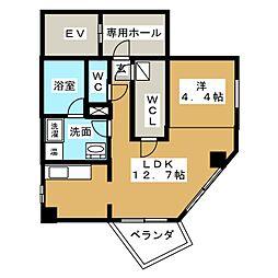 アスカタワー[4階]の間取り