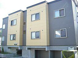 北海道札幌市南区南沢四条4丁目の賃貸アパートの外観