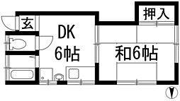 [テラスハウス] 大阪府箕面市桜4丁目 の賃貸【/】の間取り