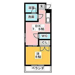 荒木ビル[3階]の間取り