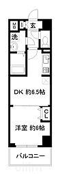 JR東海道・山陽本線 西大路駅 徒歩9分の賃貸マンション 2階1DKの間取り