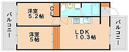 エデンフィールド[4階]の間取り