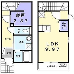 徳島県徳島市春日1丁目の賃貸アパートの間取り