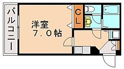 福岡県福岡市城南区七隈7丁目の賃貸マンションの間取り