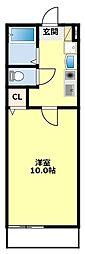 愛知県豊田市本地町4の賃貸アパートの間取り