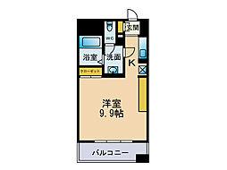 フェルト627[8階]の間取り