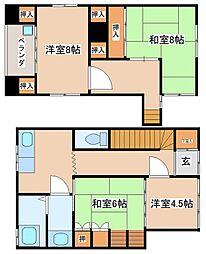 [一戸建] 兵庫県明石市港町 の賃貸【/】の間取り