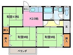 [一戸建] 三重県松阪市大足町 の賃貸【三重県/松阪市】の間取り