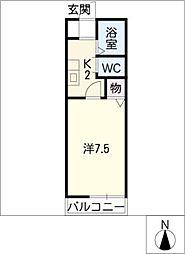 エコースウィート恵[2階]の間取り