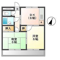 大木マンション[2階]の間取り