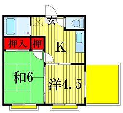 第二吉田ビル[3階]の間取り