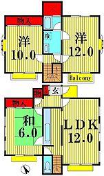 [一戸建] 埼玉県越谷市千間台東3丁目 の賃貸【/】の間取り