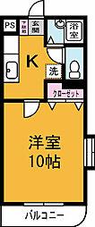 グリーン・ヨシエ1[101号室]の間取り