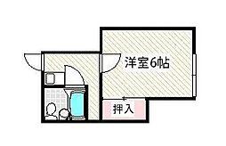 東京都江戸川区上一色3丁目の賃貸アパートの間取り