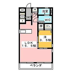 PARKSIDE KUNO[3階]の間取り