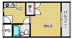 ナンノ第12号館[316号室]の間取り