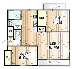マンションアール[3階]の間取り