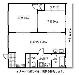 第1サンヨウビル[302号室]の間取り