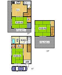 [テラスハウス] 兵庫県伊丹市松ケ丘4丁目 の賃貸【/】の間取り