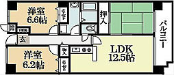 フレックス戸ノ内[2階]の間取り