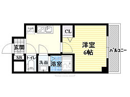 Osaka Metro長堀鶴見緑地線 蒲生四丁目駅 徒歩2分の賃貸マンション 5階1Kの間取り