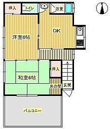 [一戸建] 大阪府箕面市如意谷2丁目 の賃貸【/】の間取り