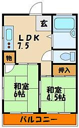 明石マンション[4階]の間取り