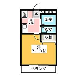 プレイスM[1階]の間取り