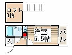 キティン亀有[2階]の間取り