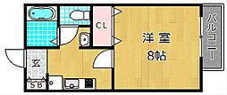 ア・リープガーデン B棟[1階]の間取り