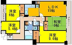 兵庫県神戸市中央区中尾町の賃貸マンションの間取り