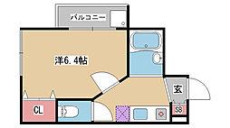 兵庫県神戸市灘区原田通1丁目の賃貸マンションの間取り