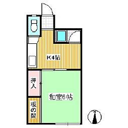 プチハウス田中[1階]の間取り