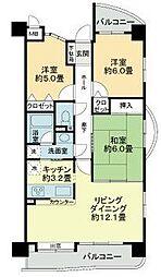 愛知県名古屋市東区橦木町1丁目の賃貸マンションの間取り
