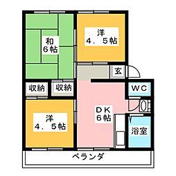 円山マンション[2階]の間取り