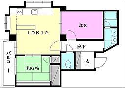 キジヤ一番町ビル[203 号室号室]の間取り