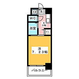 ダイナコートテソロ博多[6階]の間取り