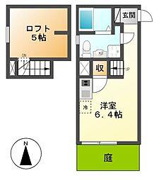 愛知県名古屋市南区白水町の賃貸アパートの間取り