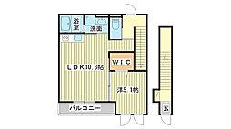 仮)上野田5丁目新築アパート[2階]の間取り